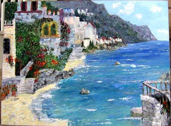Capri Italy Painting by Colleen DalCanton