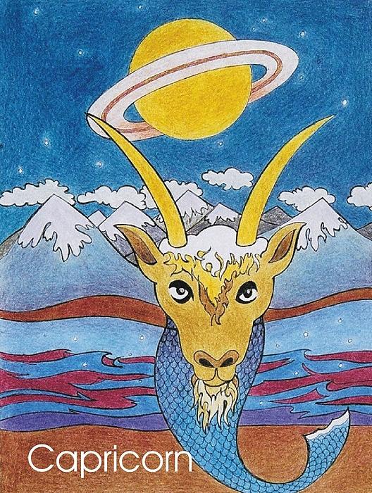 Capricorn Sign Mixed Media - Capricorn by Stephen Daniel