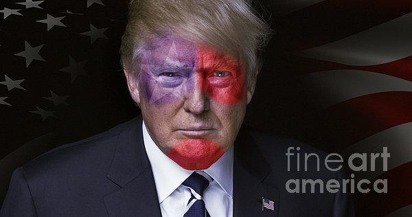 Donald Trump Digital Art - Captain America by Kira Yan