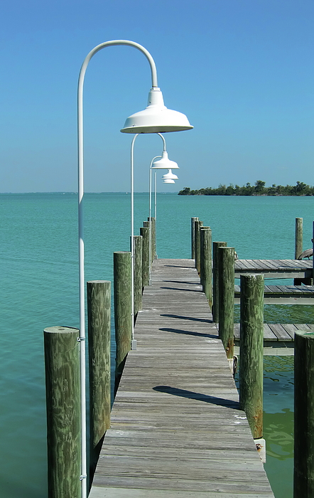 Seascapes Photograph - Captiva Island Pier One by Richard Mansfield