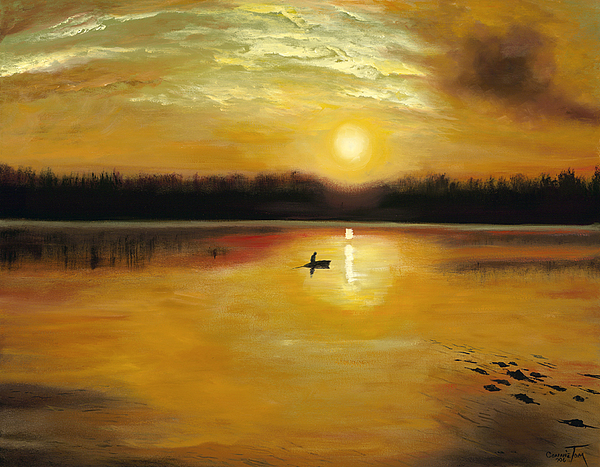 Landscape Painting - Captured By The Light by Connie Tom