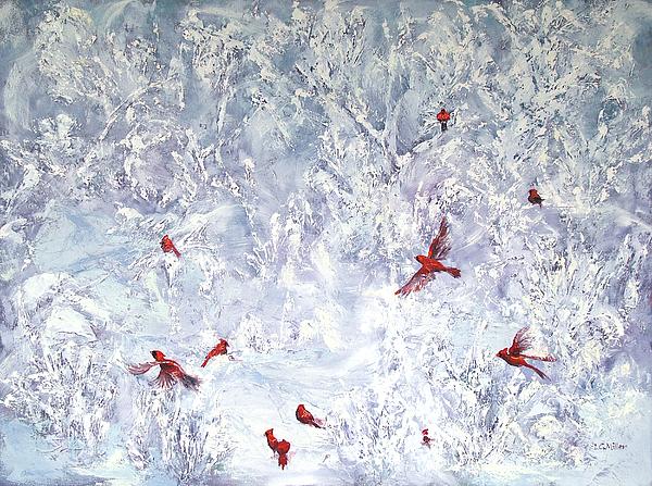 Cardinals Painting - Cardinal Zen by Leda Miller
