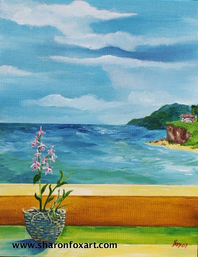 Seascape Painting - Caribbean Seascape by Sharon Fox-Mould