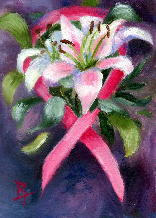Aceo Painting - Caring Aceo by Brenda Thour