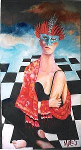 Women Painting - Carnival In Venice by Marlene Files