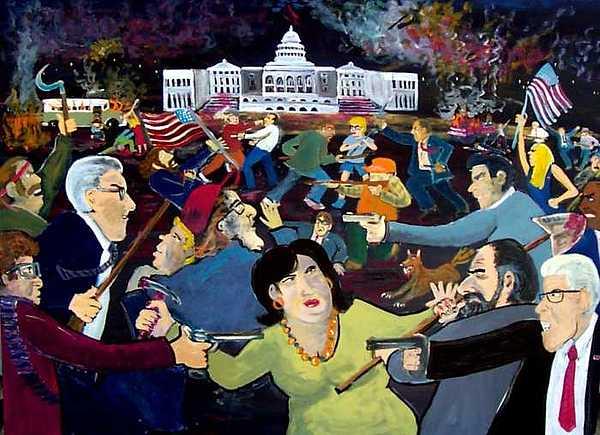 War Painting - Carnival Of Democracy by Richard  Hubal
