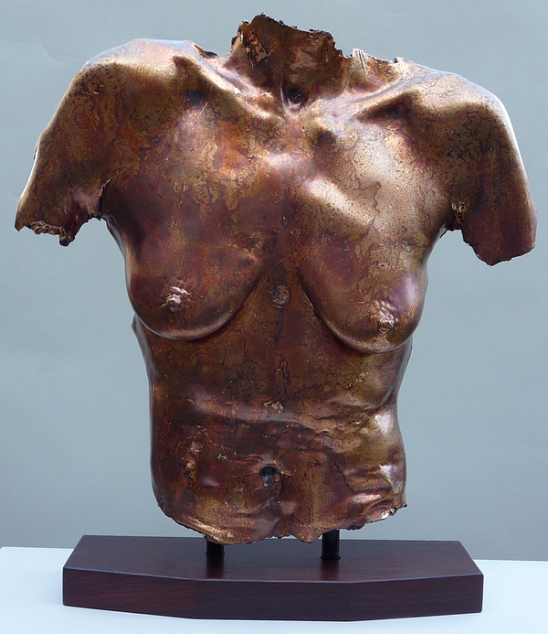 Nude Sculpture - Carol Copper Leaf by Wayne Berger