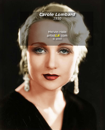 Carole Lombard Painting - Carole Lombard C1930 by Melvin Hale
