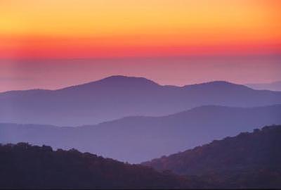 Sunrise Photograph - Carolina Ridges by David Koll