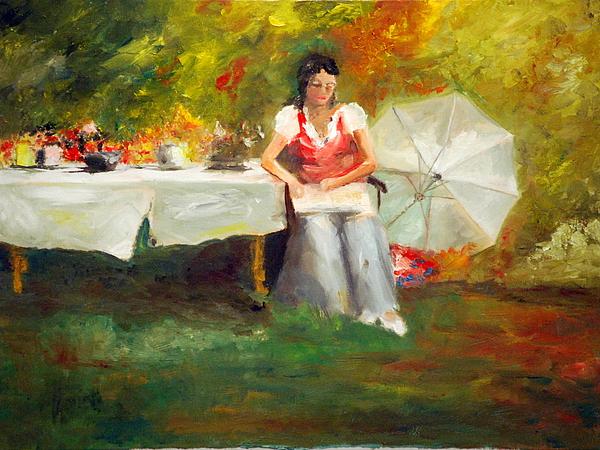 Impressionist Painting - Carolina Tea by Phil Burton