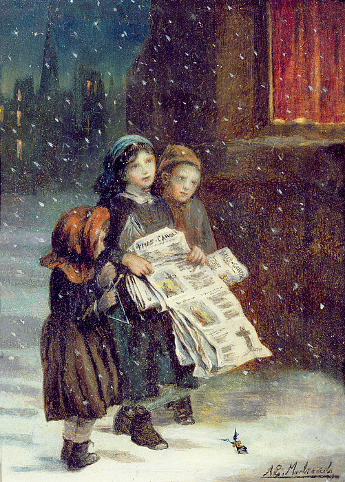 Carols Painting - Carols For Sale  by Augustus Edward Mulready