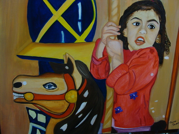 Carousel Painting - Carousel Connie by Diane Duran
