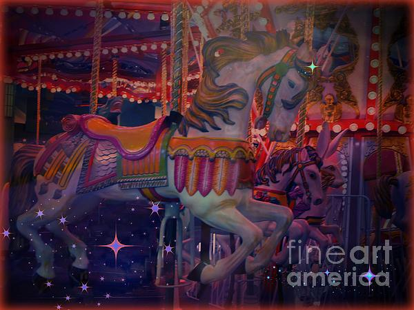 Carousel Horse Digital Art - Carousel Horse by Annie Gibbons