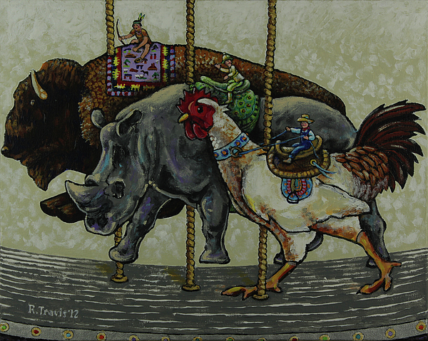 Carousel Painting - Carousel Kids 1 by Rich Travis
