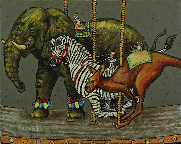 Carousel Painting - Carousel Kids 2 by Rich Travis