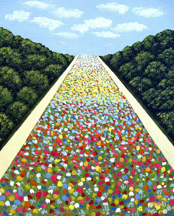 Landscape Paintings Painting - Carpet Of Flowers by Frederic Kohli