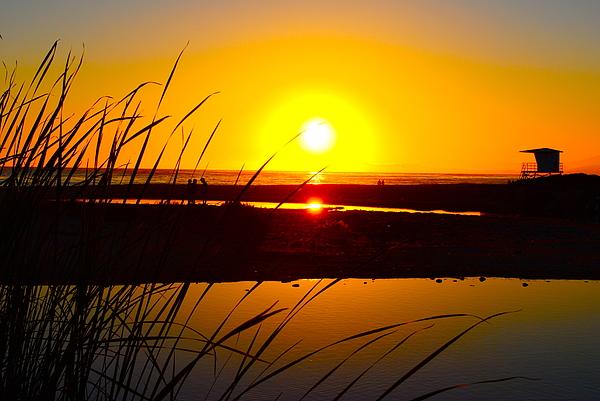 Sunset Photograph - Carpinteria State Beach by Bransen Devey