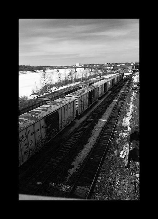 Train Photograph - Cars Along The River by Daniel Ramos