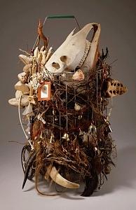 Assemblage Sculpture - Cart by Susan Danis