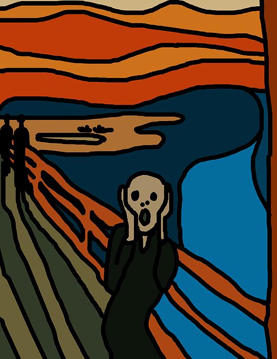 Cartoon Digital Art - Cartoon Scream by Jera Sky