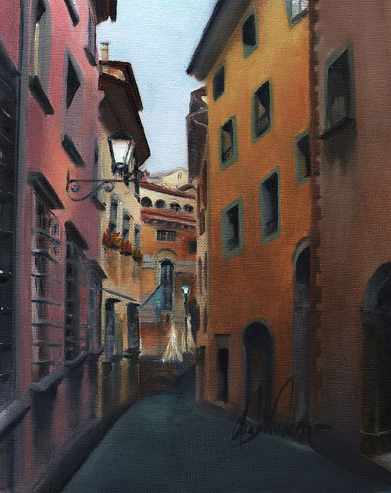 Italy Painting - Casa Cordati by Leah Wiedemer