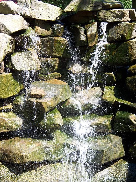 Rocks Photograph - Cascading Down The Rocks II by Rosanne Bartlett