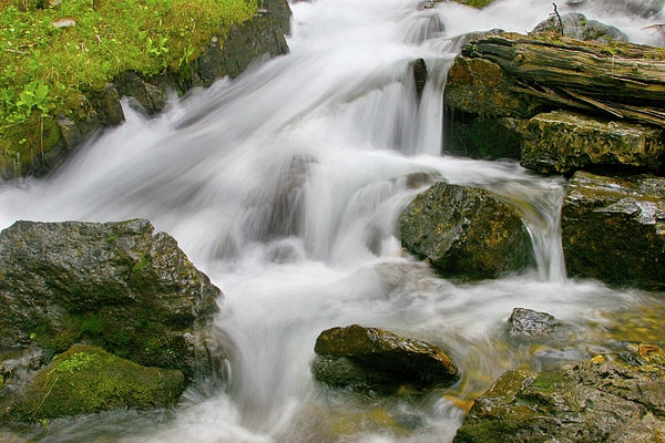 Aquatic Photograph - Cascading Waters by Crystal Garner