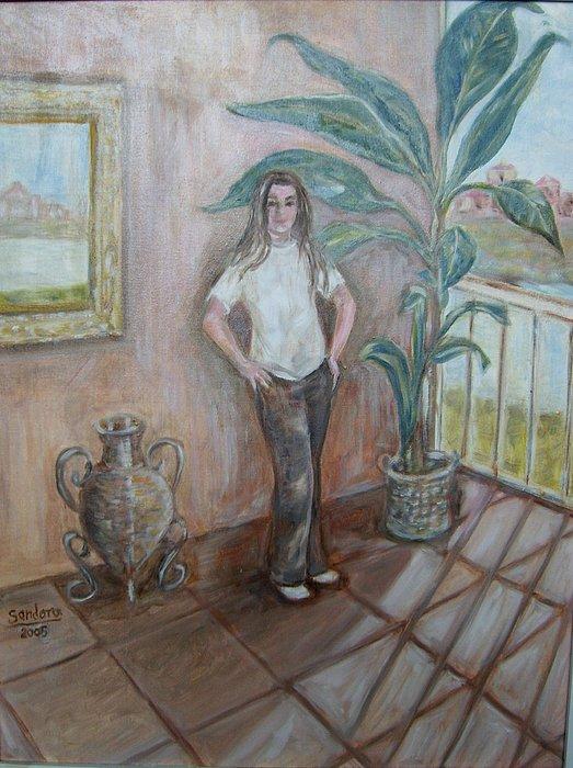 Casie R Painting by Joseph Sandora Jr