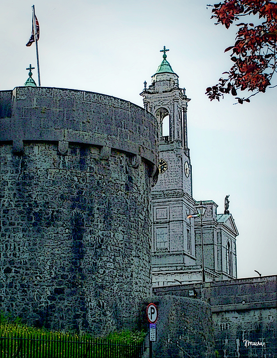 Athlone Digital Art - Castle And Church Athlone Ireland by Teresa Mucha