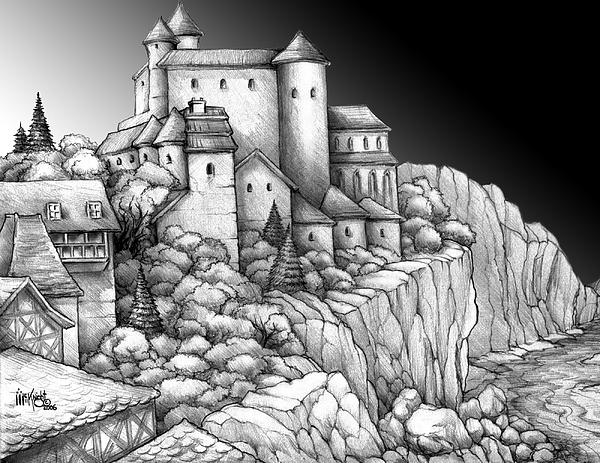 Castle Dorn Digital Art by James Carl McKnight