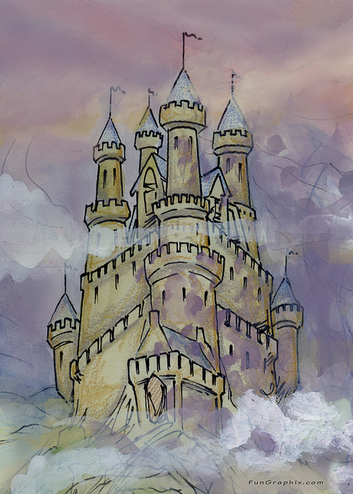 Castle Greeting Card - Castle by Kevin Middleton