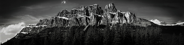 Horizontal Photograph - Castle Mountain Panoramic by Brent Mooers