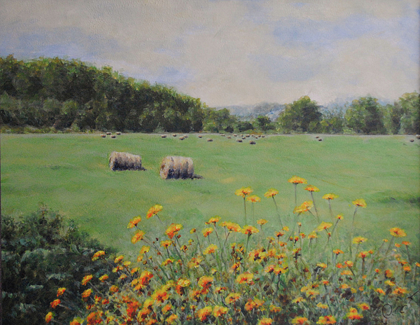 Hay Painting - Castleton by Cynthia Satton