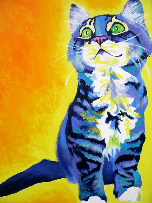 Cat Painting - Cat - Here Kitty Kitty by Alicia VanNoy Call