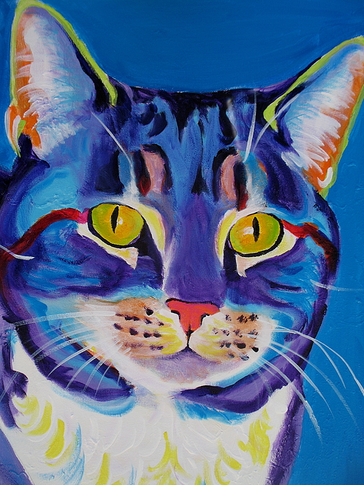 Cat Painting - Cat - Lady Spirit by Alicia VanNoy Call