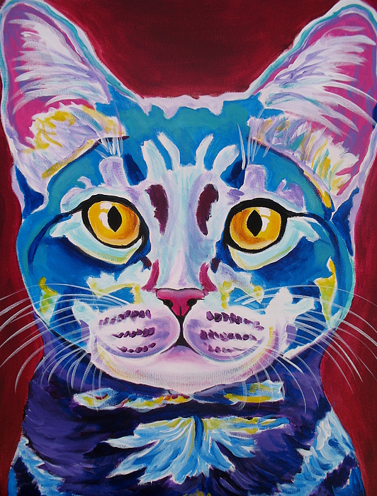 Cat Painting - Cat - Mystery Reboot by Alicia VanNoy Call