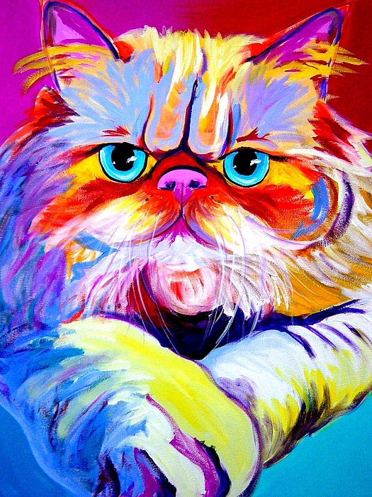 Cat Painting - Cat - Tigger by Alicia VanNoy Call