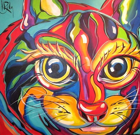 CAT Painting by Heather Roddy