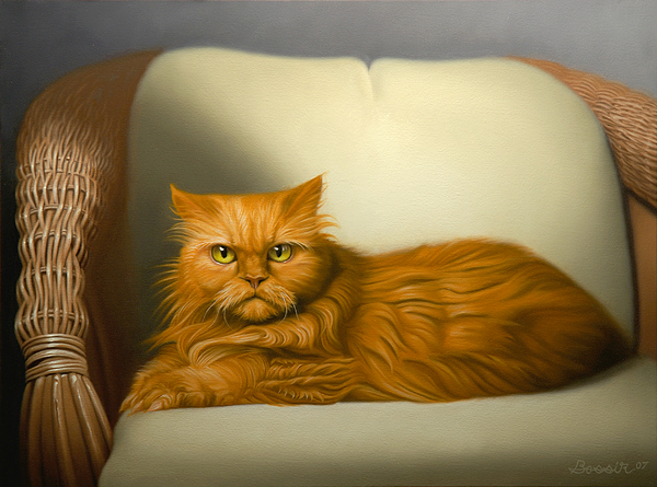Cats Painting - Cat Portrait Of Tosca by Eric Bossik