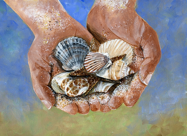 Hands Painting - Catch Of The Day by Sheryl Heatherly Hawkins