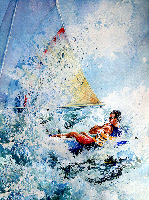 Sailboat Painting - Catch The Wind by Hanne Lore Koehler
