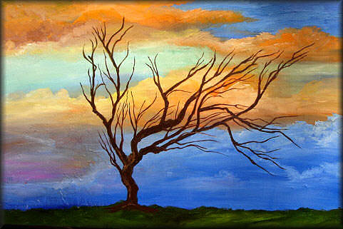 Abstract Painting - Catching The Wind  Abstract Tree Series by Mary Jo Zorad