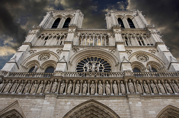 Architecture  Photograph - Cathedral Notre Dame Of Paris. France   by Bernard Jaubert