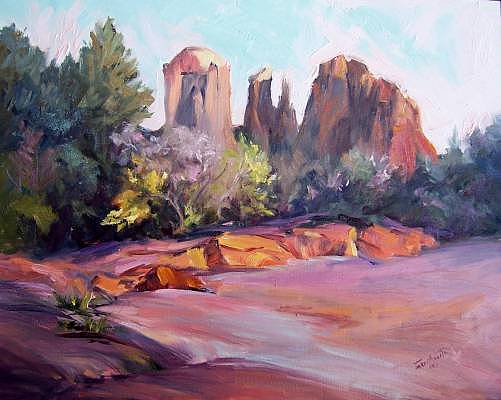 Cathedral Rock Painting by Geri Acosta