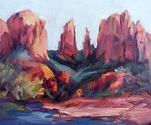 Cathedral Rock Study Painting by Geri Acosta