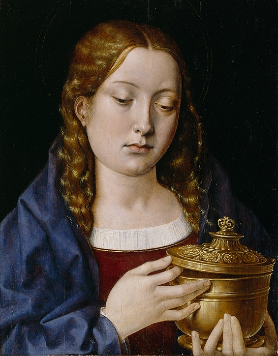 Catherine Painting - Catherine Of Aragon As The Magdalene by Michiel Sittow