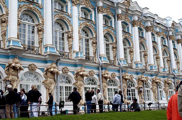 Pushkin Photograph - Catherine Palace C055 by Charles  Ridgway