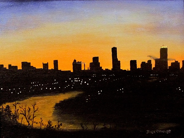 Cityscape Painting - Catherines Sunrise by Jack Skinner