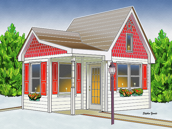 Catonsville Digital Art - Catonsville Santa House by Stephen Younts