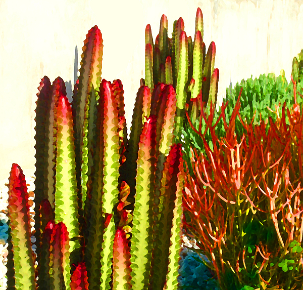 Landscape Painting - Catus Garden by Amy Vangsgard